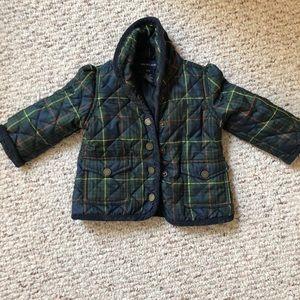 Ralph Lauren quilted barn jacket. 12 months. EUC